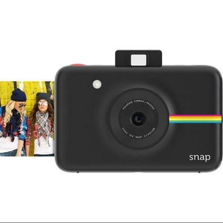 Polaroid Snap Instant Camera (Black) w/ ZINK Zero Ink Printing Technology