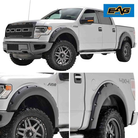 Ford Fender Skirts (EAG Bolt on Style Fender Flares in Black Textured - fits 09-15 Ford F-150)
