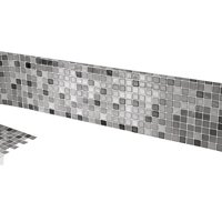 Mosaic Backsplash Tiles - Set Of 6 Black And White