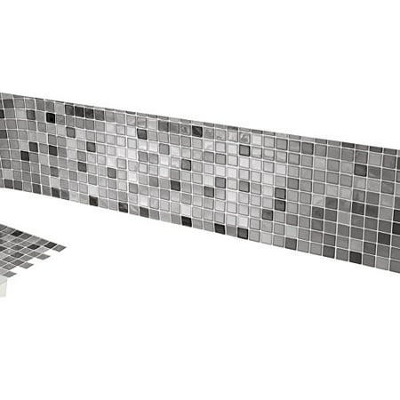 Mosaic Backsplash Tiles - Set Of 6 Black And White (Multicolor Mosaic Tile)