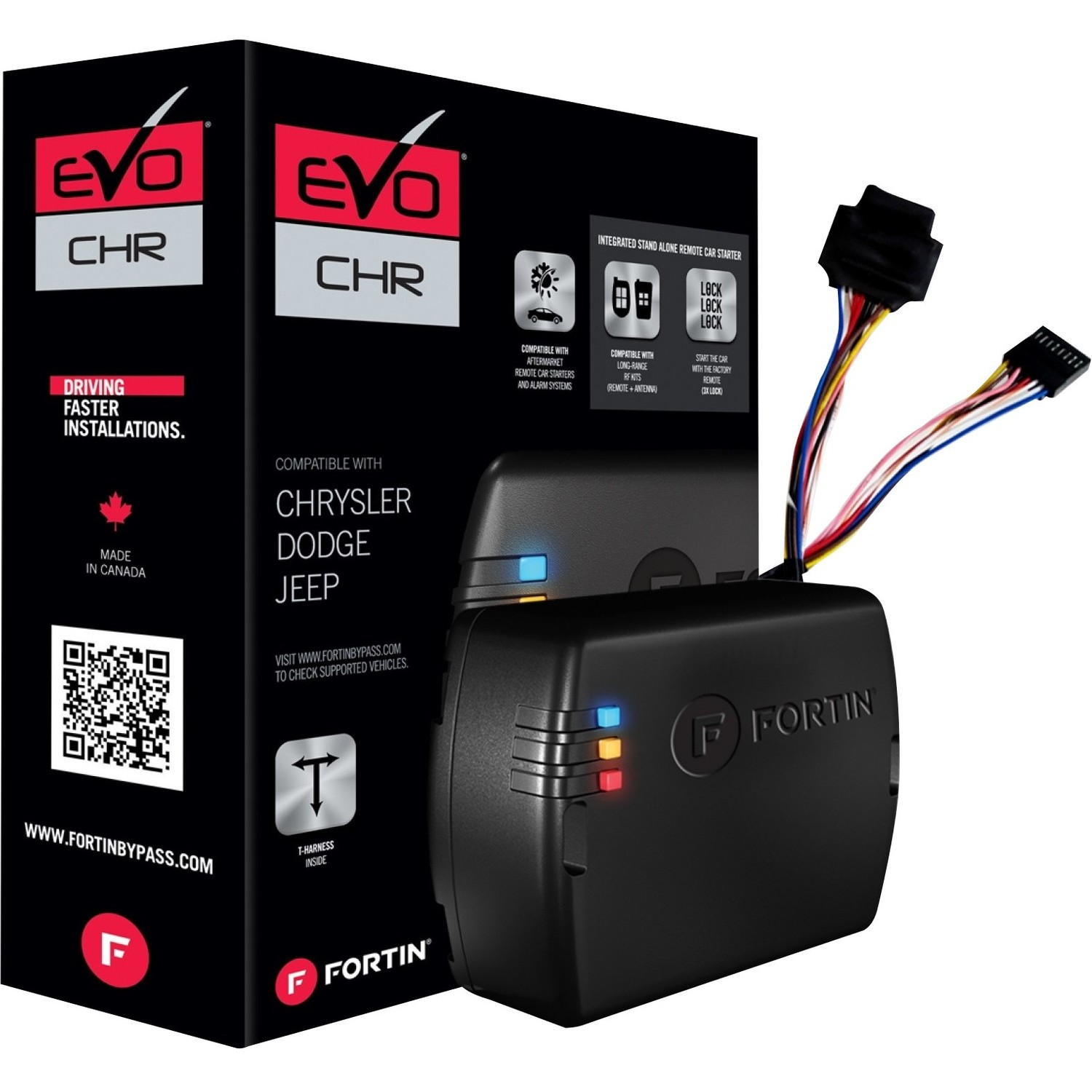 Fortin EVO-CHR.T5 Preloaded Module and T-Harness Combo (Chrysler, Dodge and Jeep 2007 and Up Standard Key Vehicles)