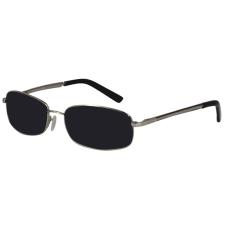 Online Prescription Sunglasses Men Silver Black Eyewear Optional Spring Hinge (How To Buy Prescription Sunglasses)
