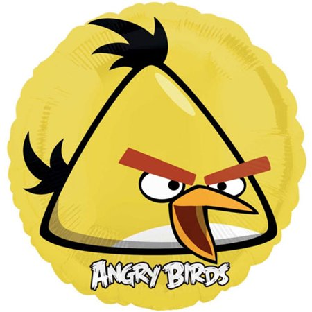 Angry Bird Pumpkin Decorating (Angry Birds Yellow Foil Mylar Balloon)
