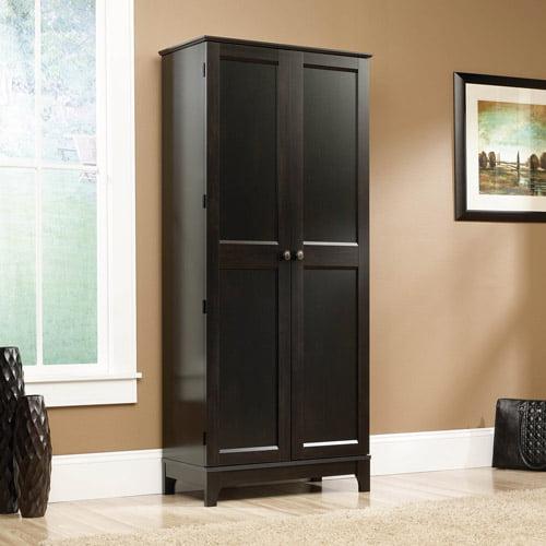 Sauder Storage Cabinet Estate Black - Walmart.com