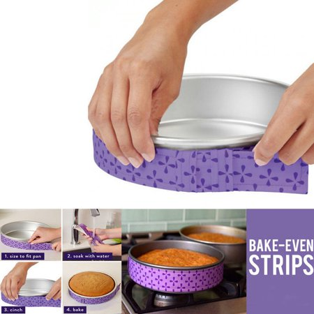Bake Even Strips (2Pcs Cake Pan Strips Bake Even Strip Belt Bake Even Moist Level Cake Baking)