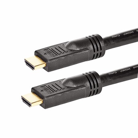 Monoprice Commercial Silver Series High Speed HDMI Cable - 4K@24Hz, 10.2Gbps, 24AWG, CL2, 6ft, Black - image 1 de 2