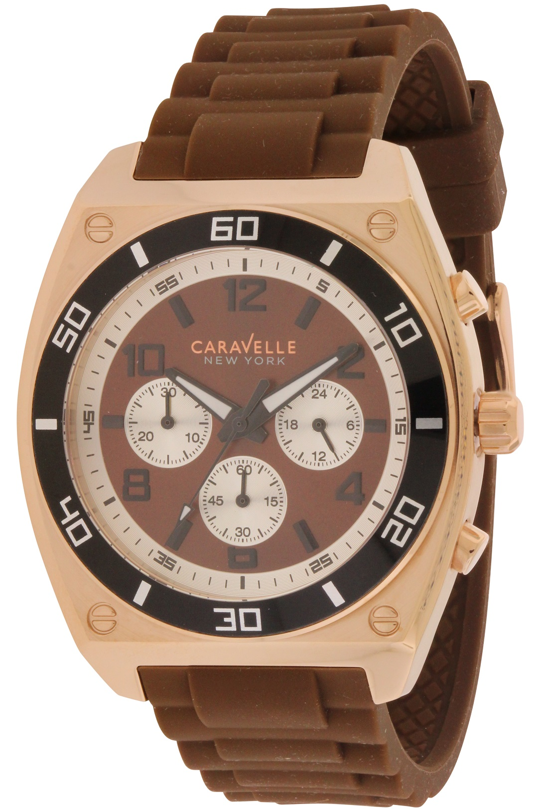 Caravelle New York Chronograph Rubber Mens Watch 45A114