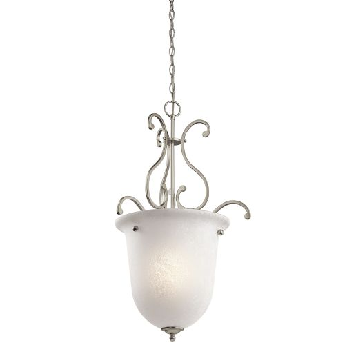 Olde Bronze Camerena Single-Bulb Indoor Pendant With Urn-Style Glass Shade