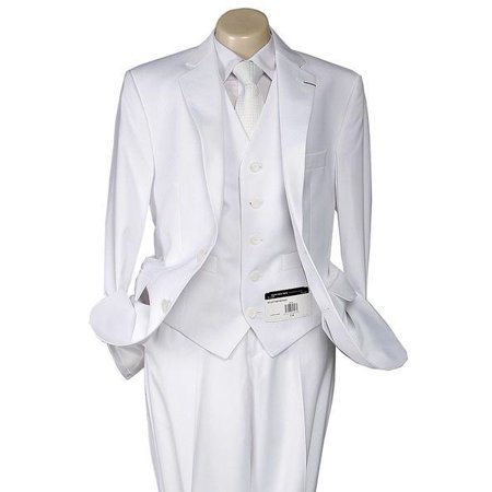 Boys White Communion Suit by Andrew Marc 2 Button White - 2MBWJ000