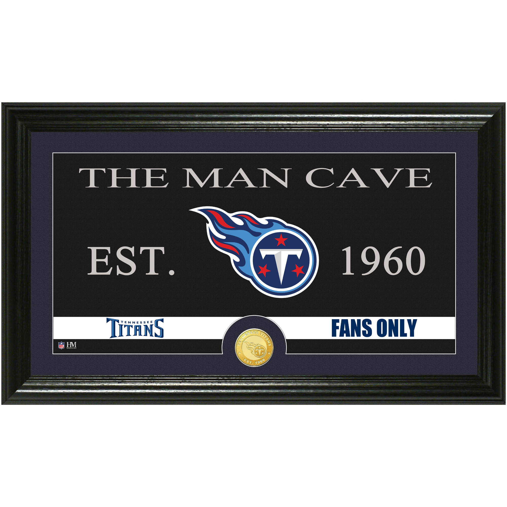 The Highland Mint NFL Man Cave Bronze Coin Panoramic Photo Mint, Tennessee Titans