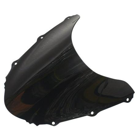 GZYF Motorcycle Smoke Black Windshield Windscreen for HONDA CBR 1000RR 2004-2007 ABS Plastic ()