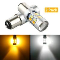 TSV 1157 LED Turning Signal Light Bulbs, 20-SMD Dual Color Switchback 5730 6000K White/Amber LED Turn Signal Light Bulbs