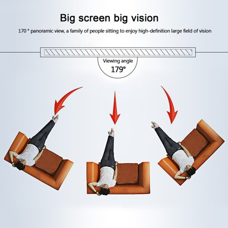OUTAD YKS Reelable 120 Inch 16:9 PVC Home Cinema Movie Projector Projection Screen - image 4 of 13