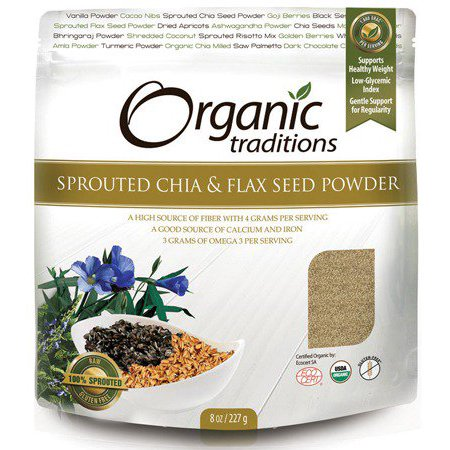 Sprouted Chia/Flax Organic Traditions 8 oz Seed