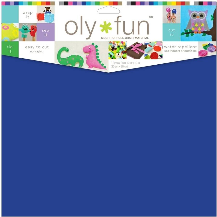 "Oly Fun Multipurpose Craft Material, 12"" x 12"", 3pk"