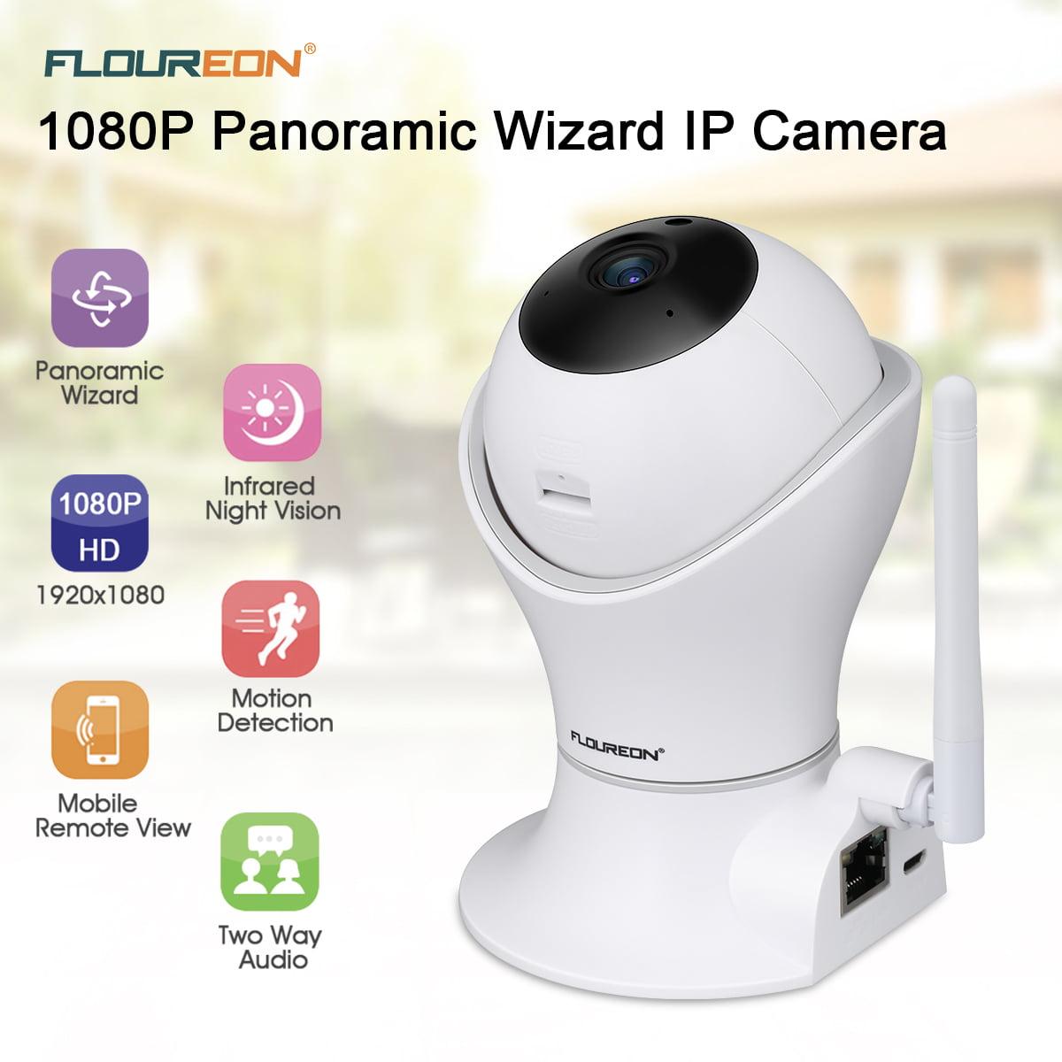 FLOUREON WiFi Wireless Security Camera, 1080P H.264 Wifi 2.0 Megapixel Wireless CCTV Security IP Camera TF Slot