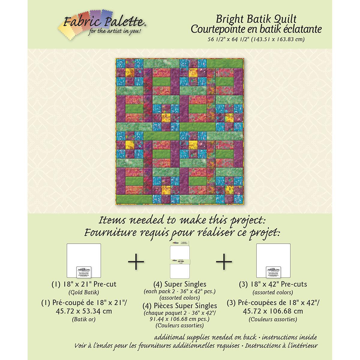Fabric Editions Fabric Editions Design Sheet, Exotic Batik Quilt Multi-Colored