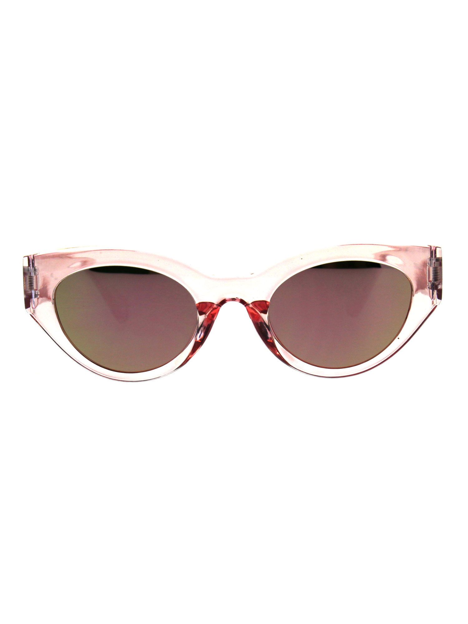 2a9b57ff62d SA106 - Womens Mod Design Thick Plastic Cat Eye Chic Sunglasses Clear Mirror  - Walmart.com