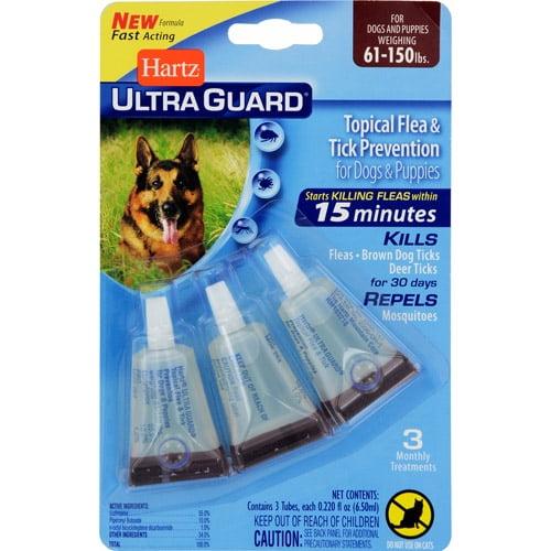 Hartz Ultraguard Flea And Tick Drops For Dogs 60 Lb Walmart Com Walmart Com