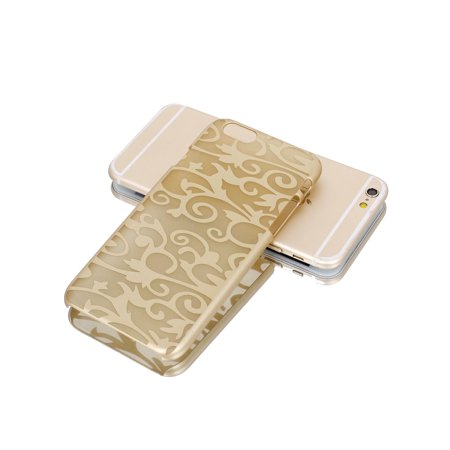 """Gold Tone PVC Ultra Thin Vintage Print Case Cover for iPhone 6 4.7"""" - image 1 of 6"""