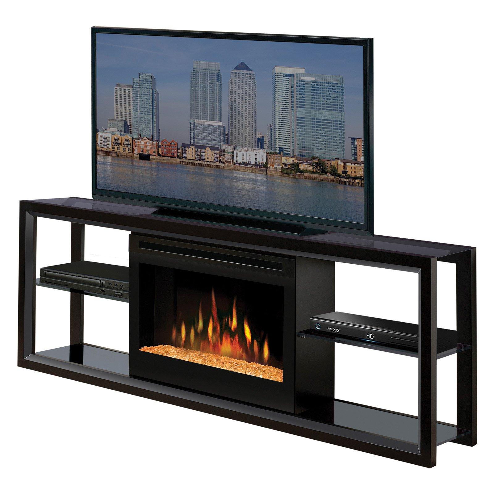 Dimplex Novara Black Entertainment Center Electric Fireplace ...