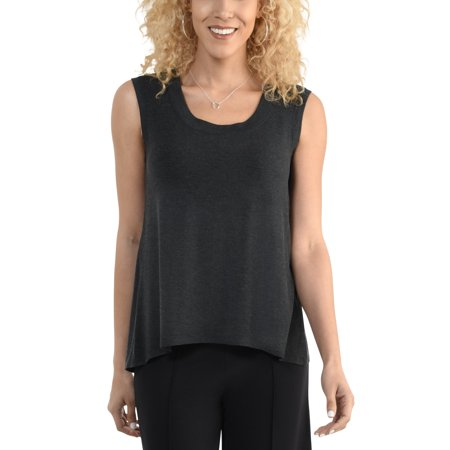 f8fb85fd57a30e Seek No Further - Women's Shell Tank with Back Split, Available in Sizes up  to 2XL - Walmart.com