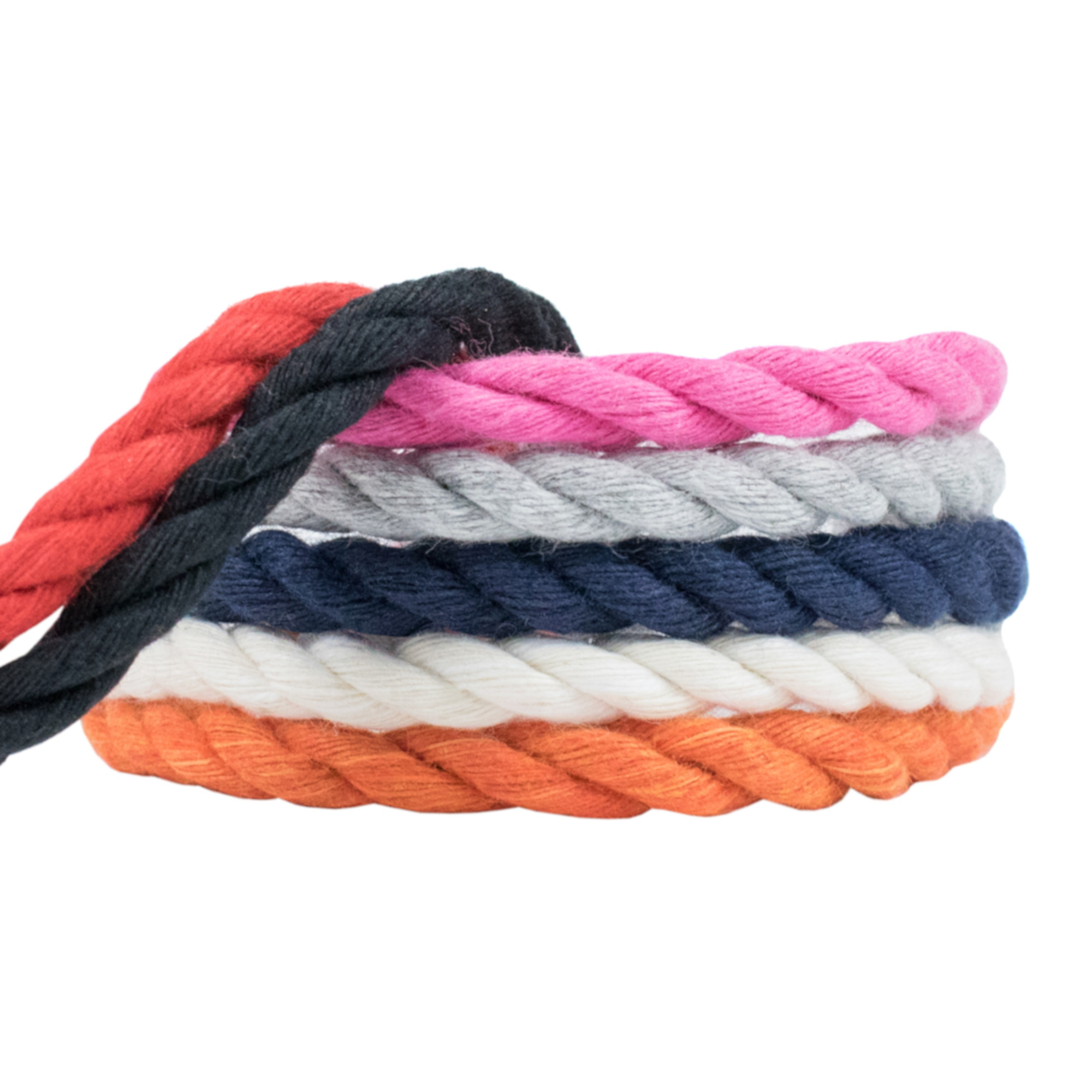 WCP Cotton Rope Soft Triple Strand 1/4 Inch Natural Artisan Cord in Various Colors and Sizes