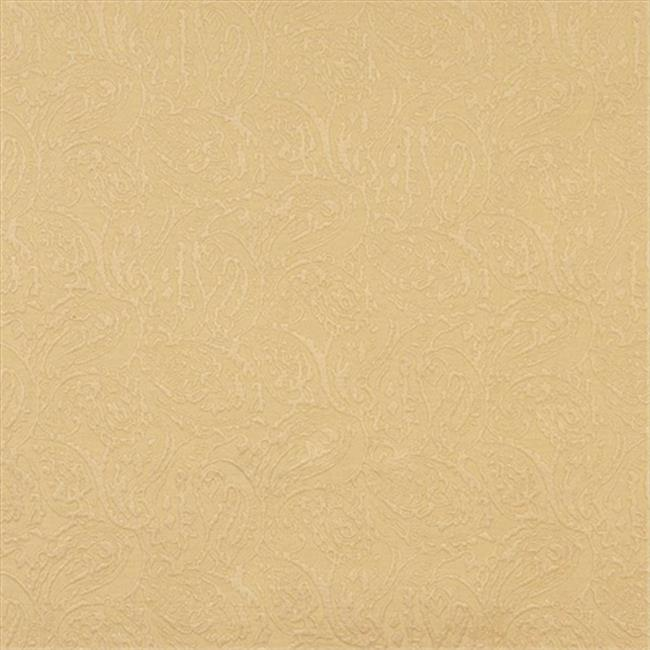 Designer Fabrics E577 54 in. Wide Gold, Paisley Jacquard Woven Upholstery Grade Fabric