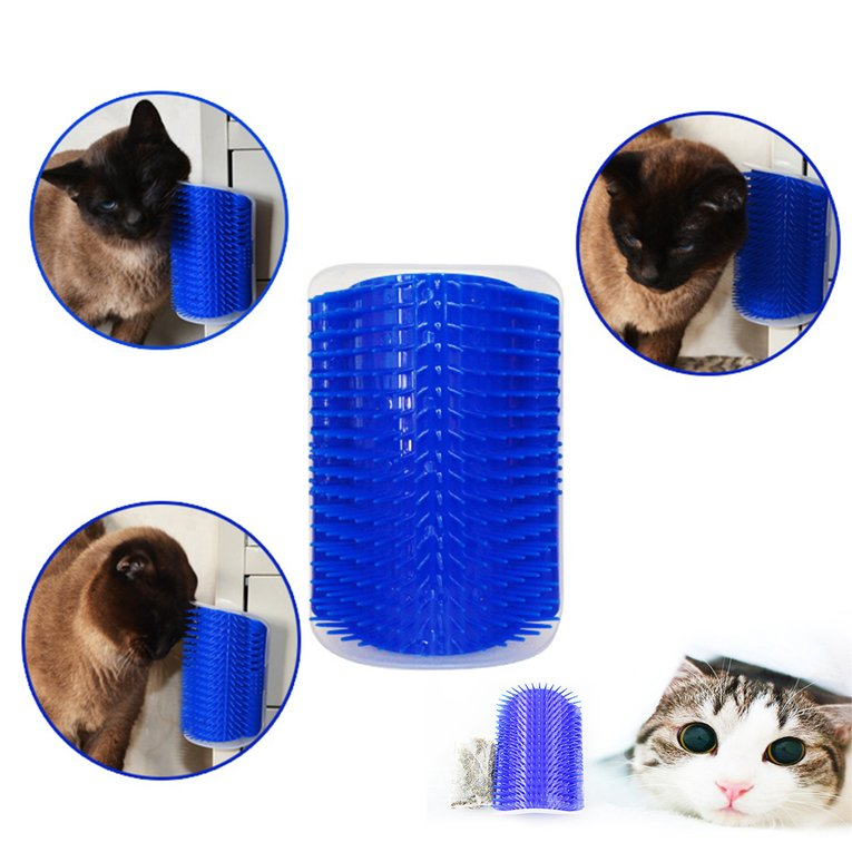 Pet Cat Massager Brush Comfortable Corner Cat Massage Self Groomer Comb