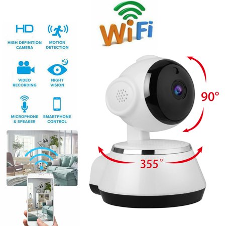 EEEkit 720P Wireless IP Camera, WiFi HD Home Security Monitoring Systems, 360 Degree Panoramic View Angle Nanny Cam with Motion Detection, Night Vision, Two-Way Audio for