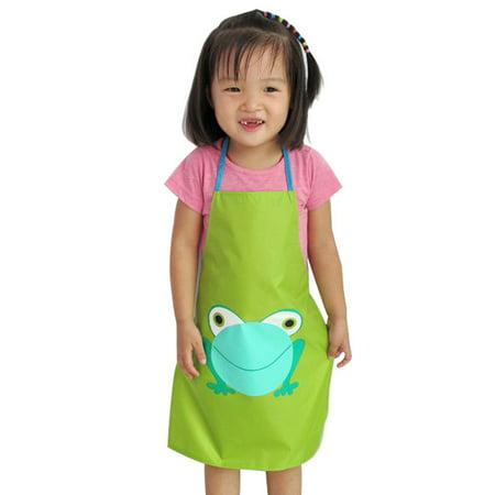 CARLTON Kids Waterproof Frog Print Apron Paint Eat Drink Outerwear ()