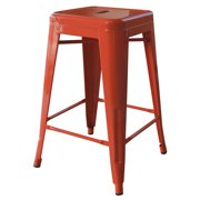 AmeriHome Loft Orange 24 Inch Metal Bar Stool 4 Piece by Buffalo Corp