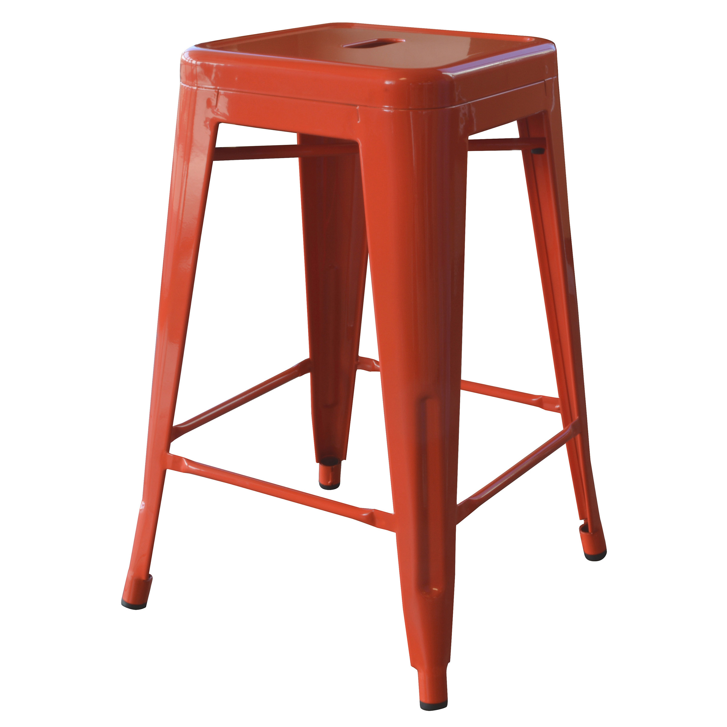 Amerihome Loft Orange 24 Inch Metal Bar Stool Walmartcom