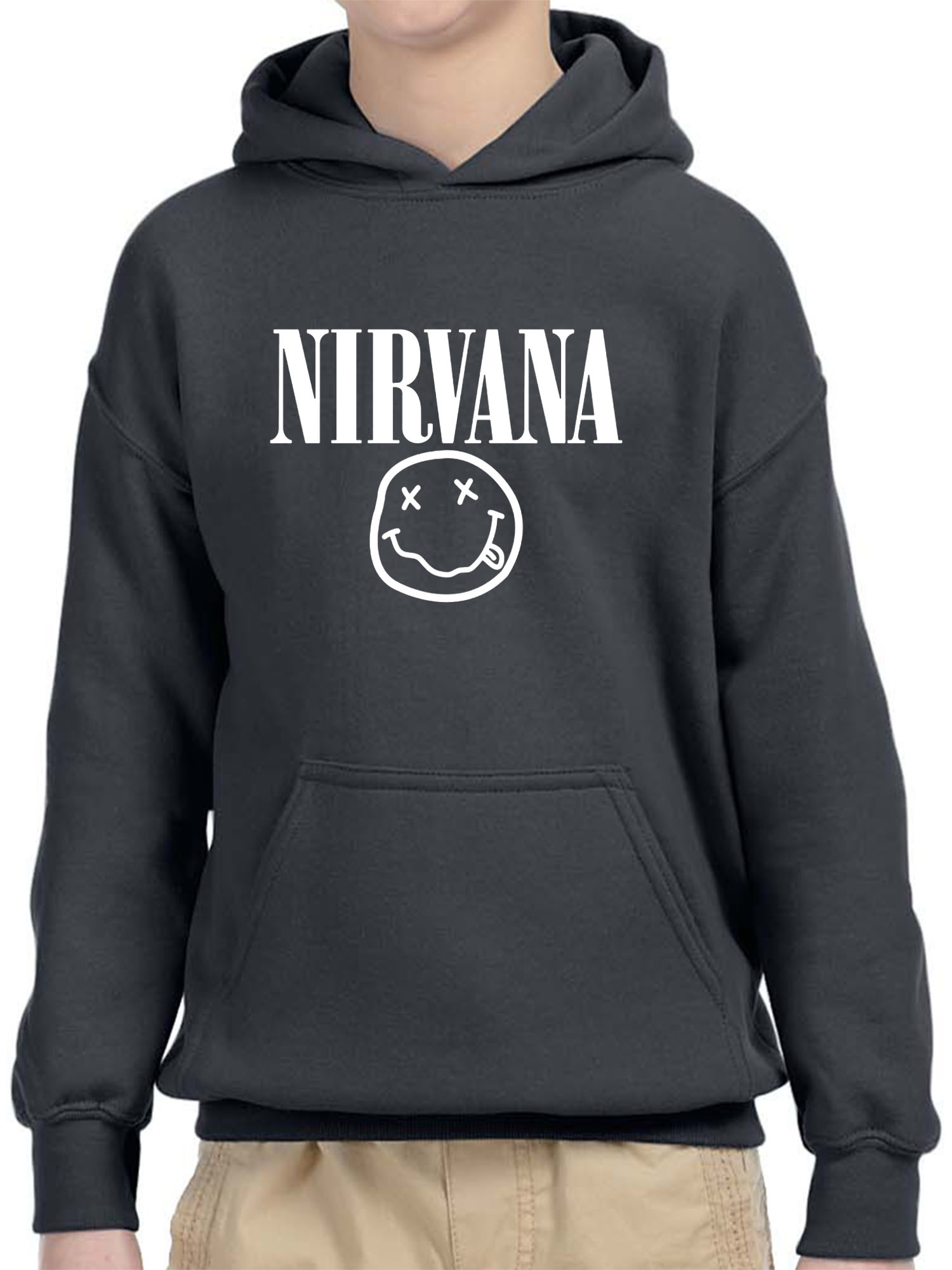 New Way 1330 Youth T-Shirt Nirvana Smiley Whiteout