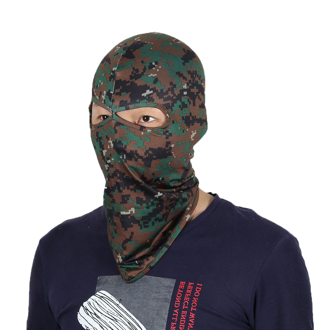 Full Coverage Face Mask Eyes Holes Neck Protector Head Hood Helmet Balaclava by Unique-Bargains
