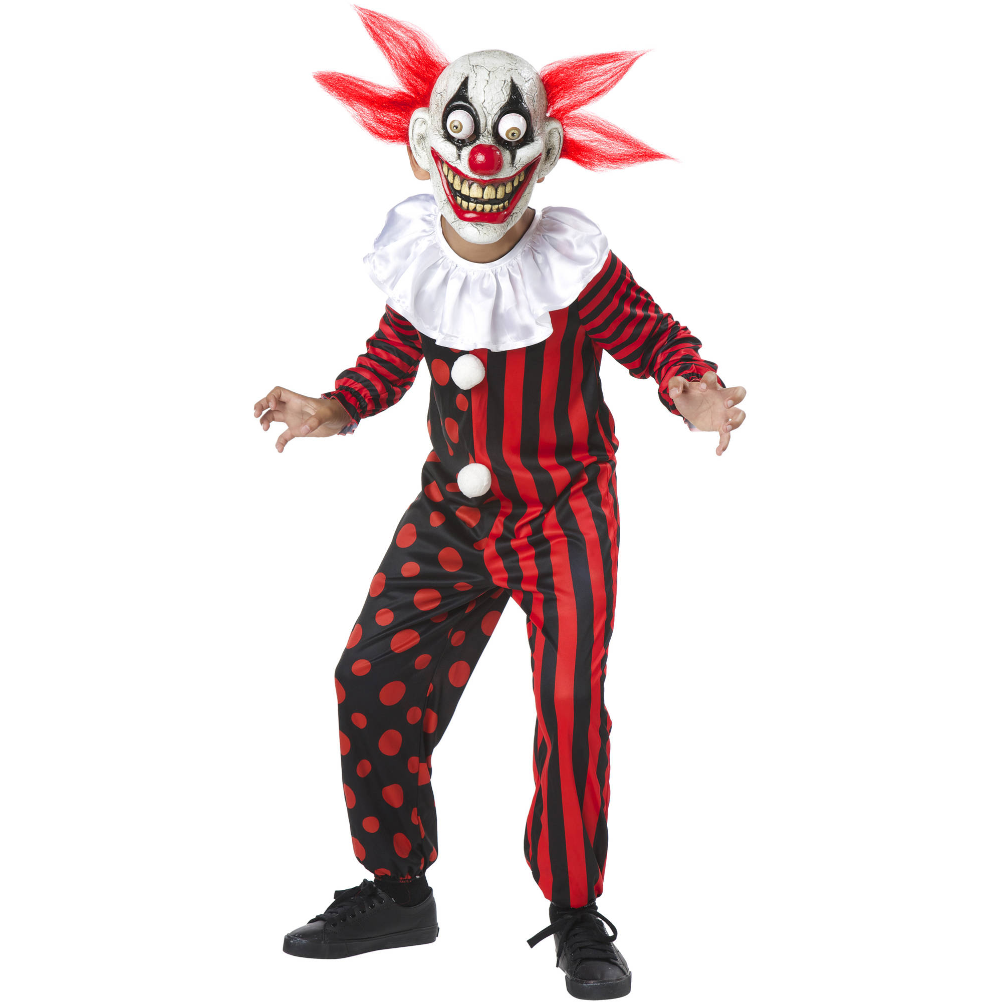 Googley Clown Child Halloween Costume Boys Medium (7-8)