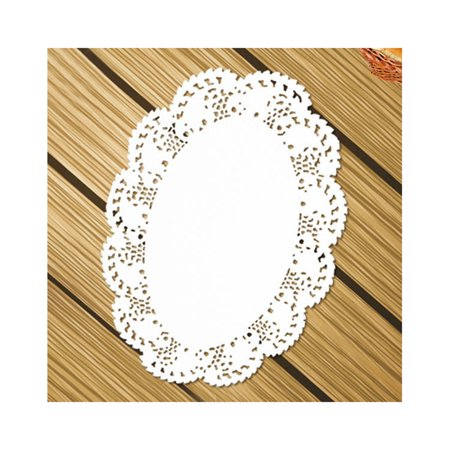 Aspire Oval Disposable Lace Paper Doilies Cake Placemats White Table Dinner Party Decoration 140Pcs/Pack-1 pack-7.5x10.5in - Halloween Dinner Party Decorations