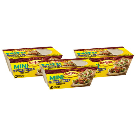 (3 Pack) Old El Paso Mini Soft Taco Boats Shells, 12 Ct, 5.1 (Food City Grocery Ad El Paso Tx)