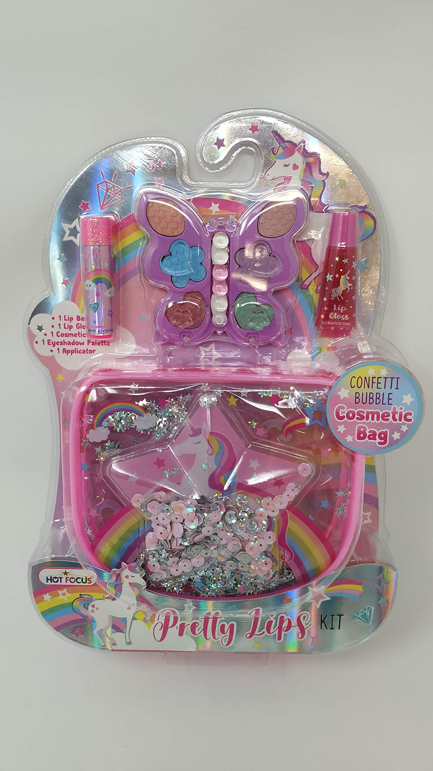 Hot Focus Pretty Lips Beauty Kit, Caticorn. 1 Clear