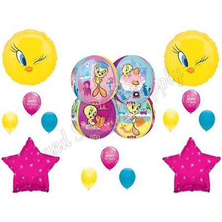 PAMPERED TWEETY BIRD Spa Day Shopping Birthday Party Balloons Decoration - Spy Decorations