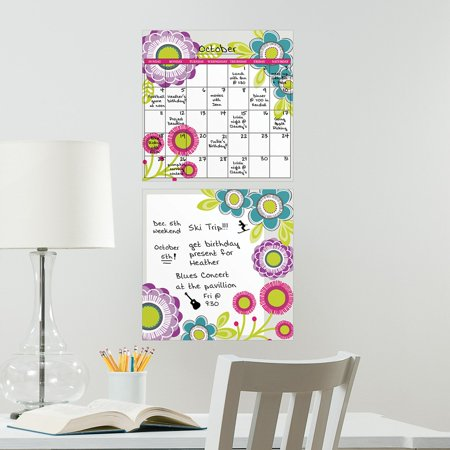 Wall Pops Poppy Dry-Erase Board/Calendar Combo (2 Pc) Wall Decals