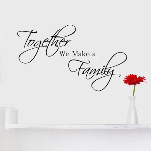 Decal the Walls 'Together We Make a Family' Vinyl Wall Quote Art Decal