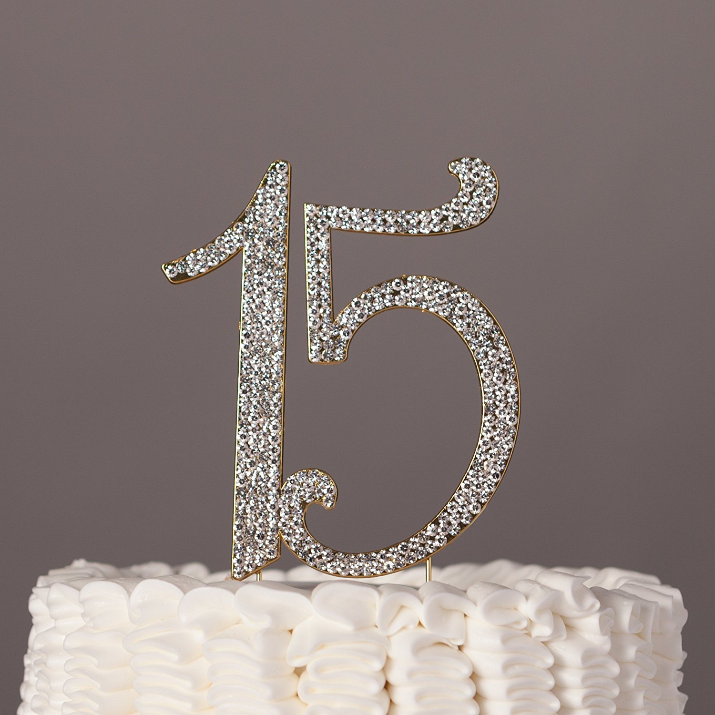 "Coolest Bear Rhinestone Crystal Cake Topper ""Letter L"", Silver"