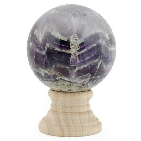 BestPysanky Purple Marble Polished Stone Sphere