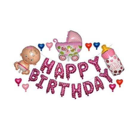 Happy Birthday Best Wishes Party 14 inch Balloon Letters Wedding Birthday Bridal Decorations (Best Happy Birthday Wishes)