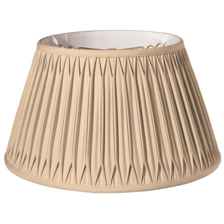 Slant Shallow Drum with Double Smocked Pleat Softback Lampshade, Vintage Gold (Tie Dye Lamp Shade)