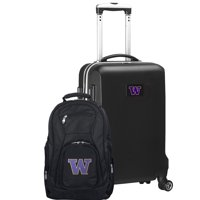 Washington Huskies Deluxe 2-Piece Backpack and Carry-On Set - Black - No Size