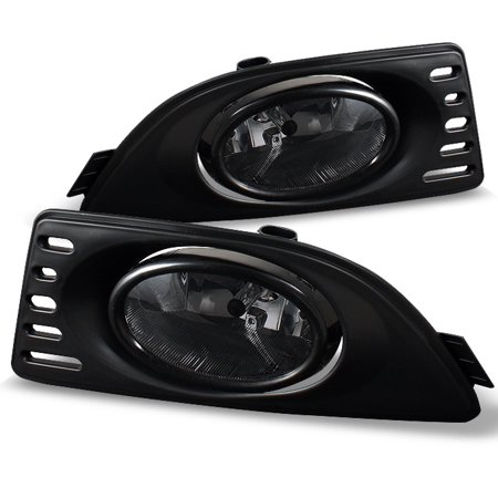 Fit Smoked 2005-2007 Acura RSX Integra Bumper Fog Lights Lamps W/Switch L+R