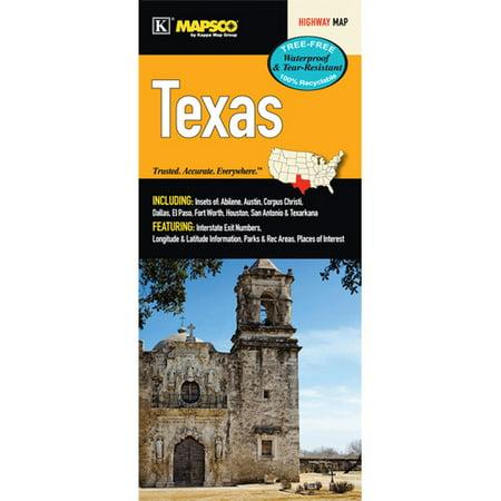 Universal Map Texas Waterproof Map