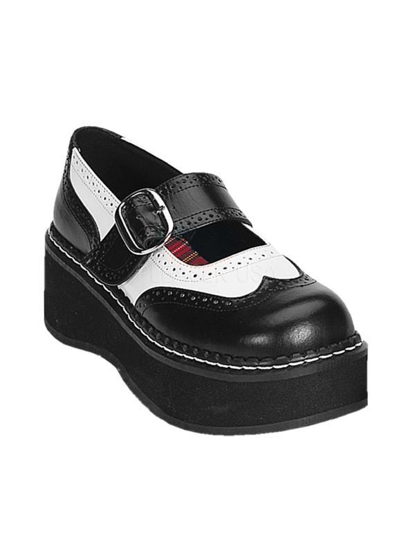 EMI302/BW/PU Demonia Platform Sandals & Shoes Womens WHITE Size: 12
